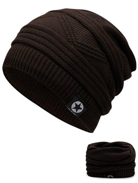 Multipurpose Empty Top Decorated Slouchy Knitted Beanie - CAPPUCCINO