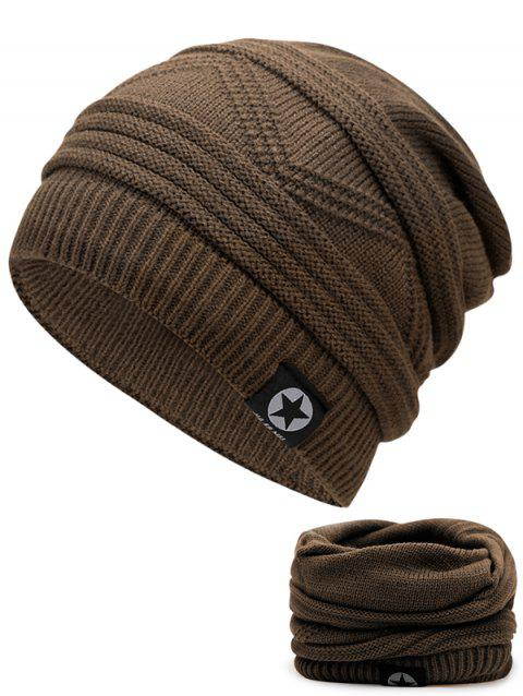 Multipurpose Empty Top Decorated Slouchy Knitted Beanie - KHAKI