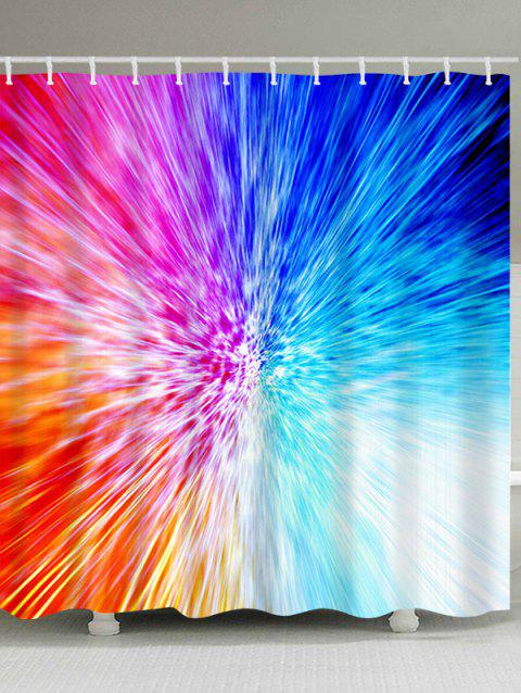 Colorful Abstract Light Waterproof Bath Curtain - COLORFUL W71 INCH * L79 INCH