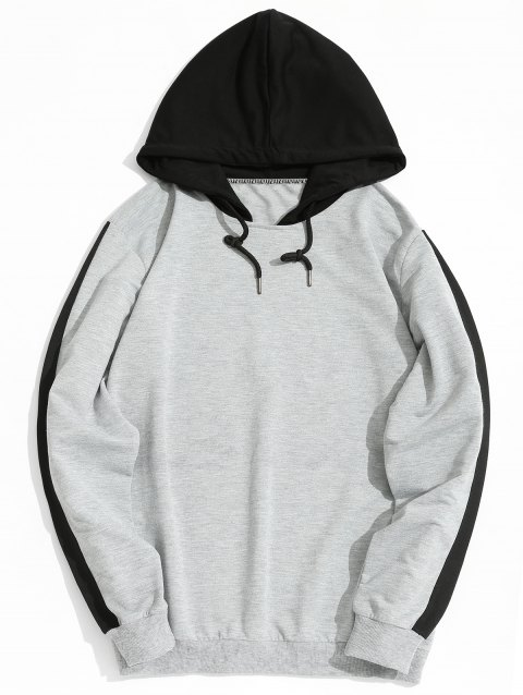 Two Tone Mens Hoodie - GRAY 2XL
