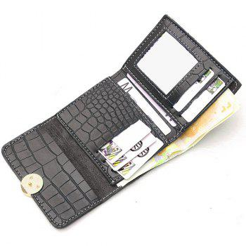 PU Leather Embossing Tri Fold Wallet - GRAY
