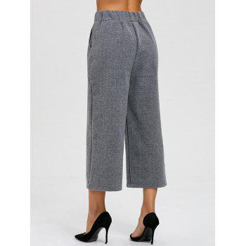 Capri High Waisted Palazzo Pants - GRAY XL