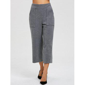 Capri High Waisted Palazzo Pants - GRAY L