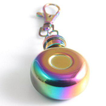 Mini 1oz Stainless Steel Keychain Hip Flask - COLORFUL