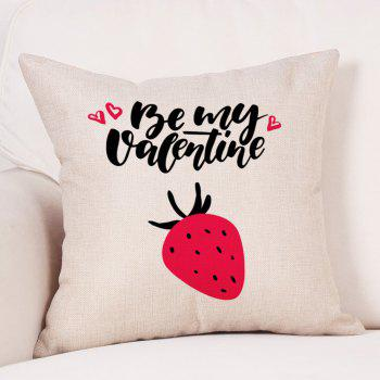 Fruit Print Valentine's Day Linen Sofa Pillowcase - COLORMIX W18 INCH * L18 INCH