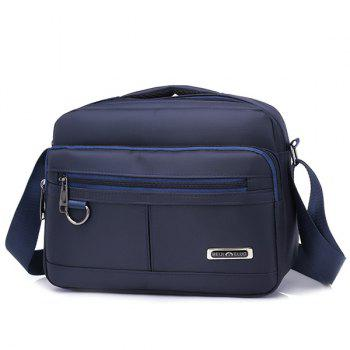 Nylon Multi Function Crossbody Bag With Handle - BLUE