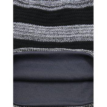 Simple Striped Pattern Slouchy Knitted Beanie -  GRAY