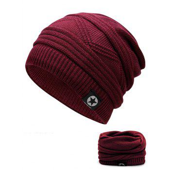 Multipurpose Empty Top Decorated Slouchy Knitted Beanie - WINE RED WINE RED
