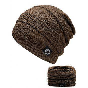 Multipurpose Empty Top Decorated Slouchy Knitted Beanie - KHAKI KHAKI
