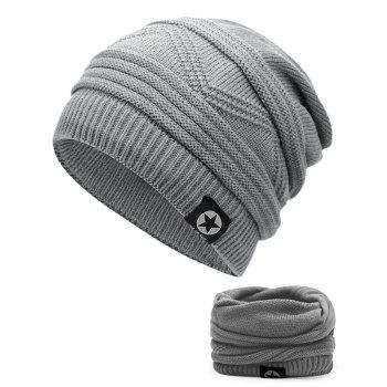 Multipurpose Empty Top Decorated Slouchy Knitted Beanie - LIGHT GREY LIGHT GREY