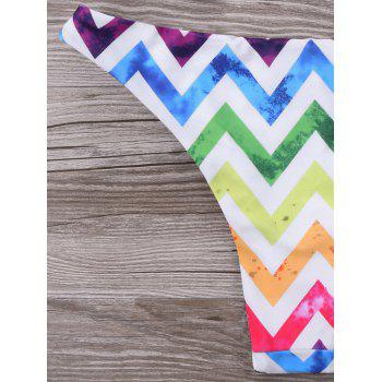 Zigzag Rainbow Bikini Set - COLORFUL 2XL