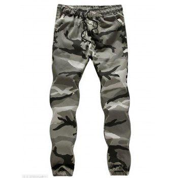Camouflage Drawstring Jogger Pants - CAMOUFLAGE GRAY CAMOUFLAGE GRAY