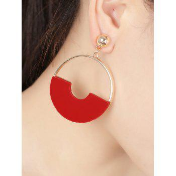 Simple Alloy Circle Earrings - GOLDEN GOLDEN