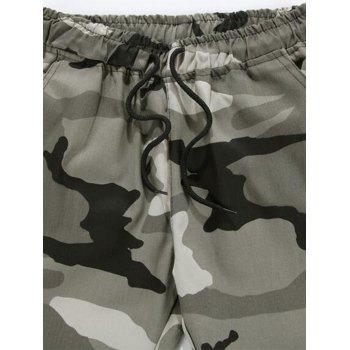 Camouflage Drawstring Jogger Pants - CAMOUFLAGE GRAY 4XL