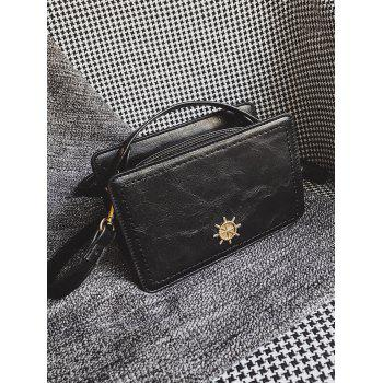 Metal Decorative Mini Crossbody Bag -  BLACK