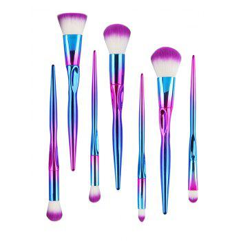 7Pcs Professional Gradient Color Fiber Hair Makeup Brush Set - COLOR