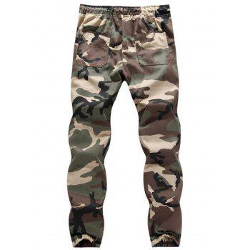 Camouflage Drawstring Jogger Pants - ARMY GREEN CAMOUFLAGE 5XL