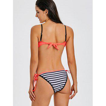 Stripe Moulded Push Up Bikini - JACINTH L