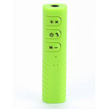 USB Recharge Multipurpose Car Phone Mini Wireless Bluetooth Receiver - GREEN