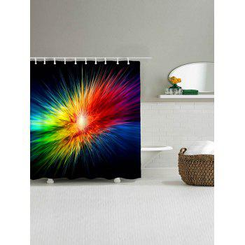 Abstract Colorful Light Waterproof Bath Curtain - COLORFUL W59 INCH * L71 INCH
