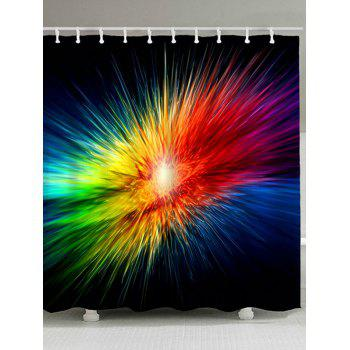 Abstract Colorful Light Waterproof Bath Curtain - COLORFUL COLORFUL