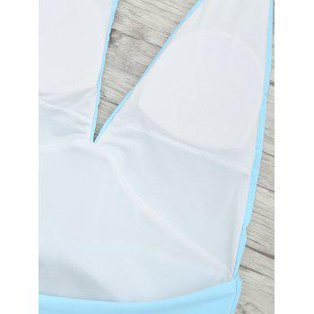 Plunge Front Backless Tied Swimsuit - CLOUDY CLOUDY