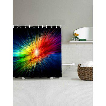 Abstract Colorful Light Waterproof Bath Curtain - COLORFUL W71 INCH * L71 INCH