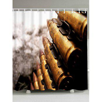 Bullets Print Waterproof Polyester Bath Curtain - COLORMIX COLORMIX