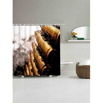 Bullets Print Waterproof Polyester Bath Curtain - COLORMIX W71 INCH * L79 INCH