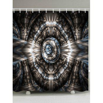 Fractal Art Graphic Polyester Waterproof Shower Curtain - COLORMIX COLORMIX
