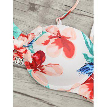 Low Waist Flower Print Bikini Set - COLORMIX L