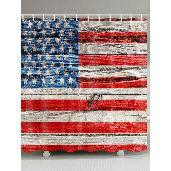 American Flag Print Waterproof Polyester Bath Curtain - COLORMIX COLORMIX