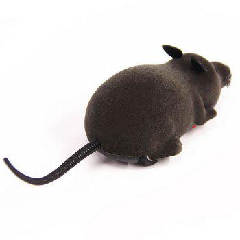 Wireless RC Simulation Tricky Flocking Mouse - BLACK BLACK
