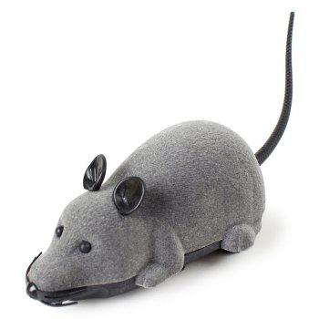 Wireless RC Simulation Tricky Flocking Mouse - GRAY GRAY
