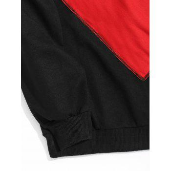 Crew Neck Flap Pocket Sweatshirt - BLACK 2XL