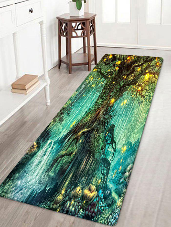 2018 Lights Tree Pattern Indoor Outdoor Area Rug Colormix W Inch L