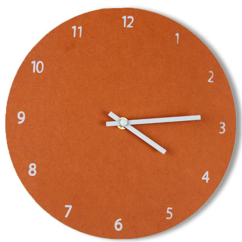 Round Thick Wood Analog Number Wall Clock