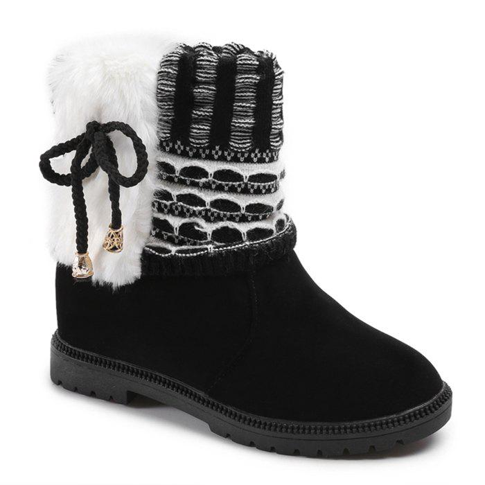 Faux Fur Knitted Bowknot Snow Boots стиральный порошок persil колор 3кг
