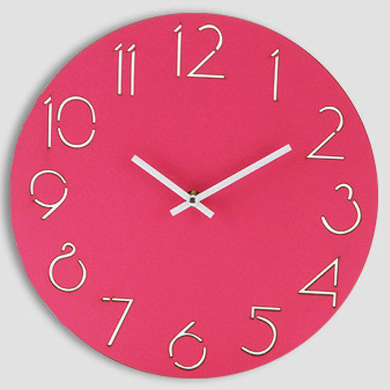 Wooden Round Analog Number Wall Clock - TUTTI FRUTTI 30*30CM