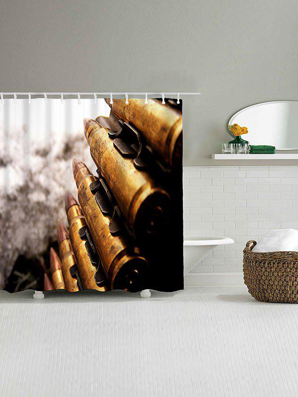 Bullets Print Waterproof Polyester Bath Curtain - COLORMIX W71 INCH * L71 INCH