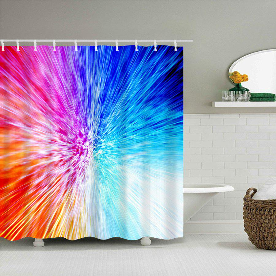 Colorful Abstract Light Waterproof Bath Curtain - COLORFUL W59 INCH * L71 INCH