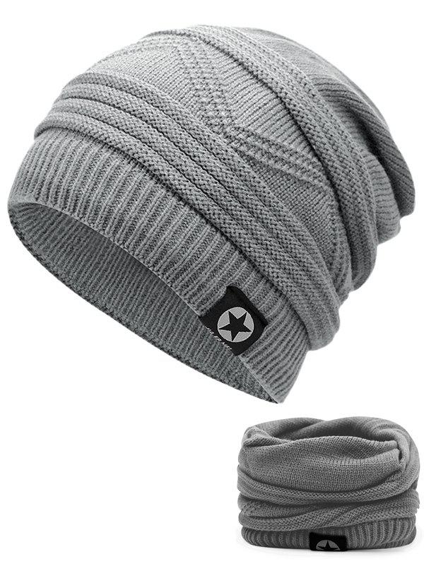 Multipurpose Empty Top Decorated Slouchy Knitted Beanie - LIGHT GREY