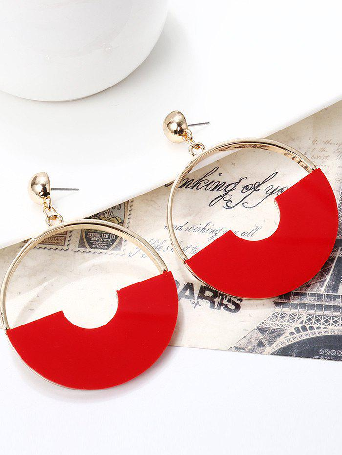 Simple Alloy Circle Earrings - GOLDEN