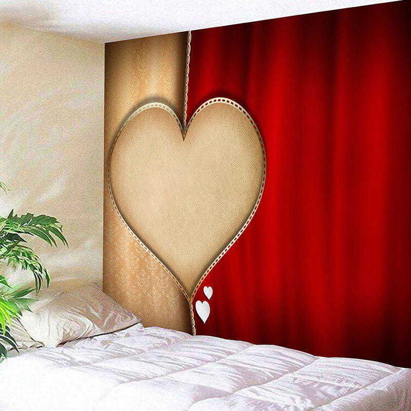 Valentine's Day Heart Printed Home Background Wall Art Tapestry valentine s day wine glass heart printed wall art tapestry