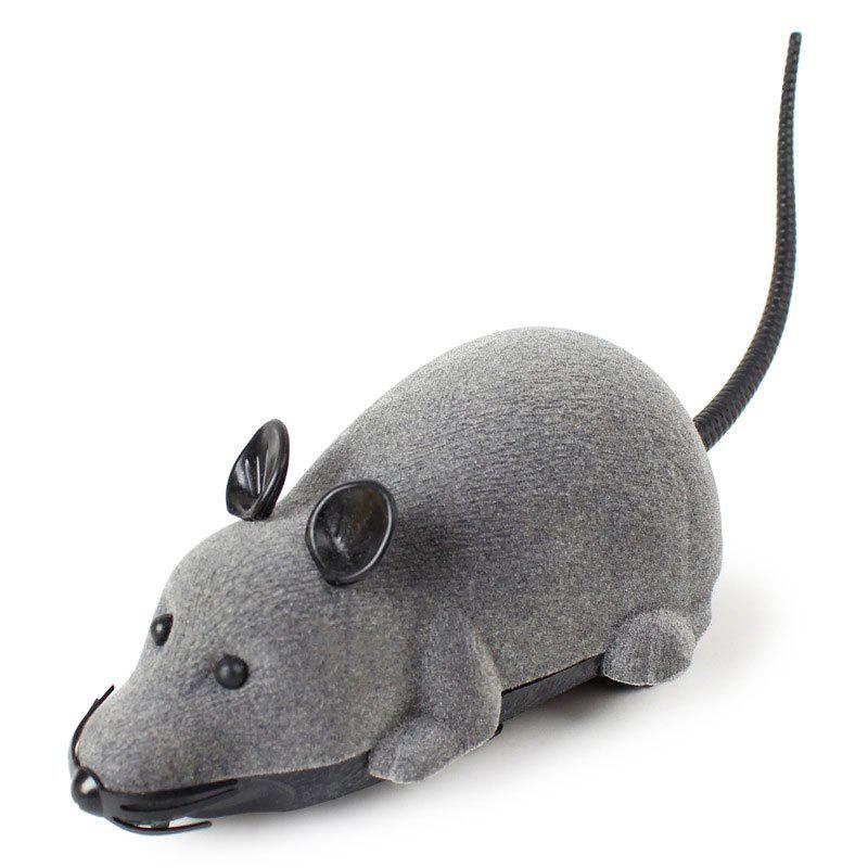 Wireless RC Simulation Tricky Flocking Mouse - GRAY