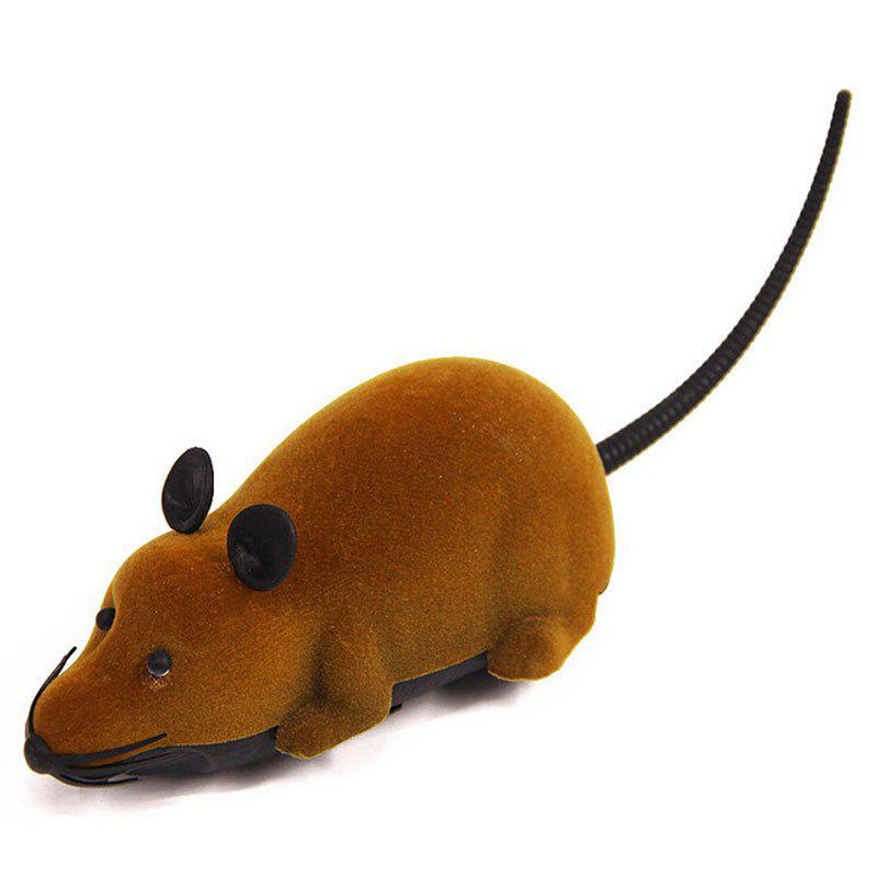 Wireless RC Simulation Tricky Flocking Mouse - BROWN