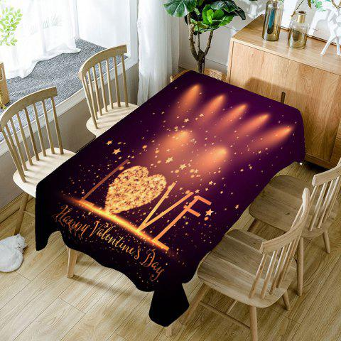 Love Radiance Valentines Day Printed Waterproof Table Cloth - COLORFUL W60 INCH * L84 INCH