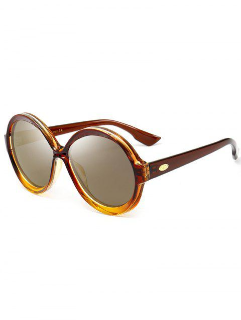 Anti-UV Full Frame Decorated Round Sunglasses - LUXURY GOLD COLOR
