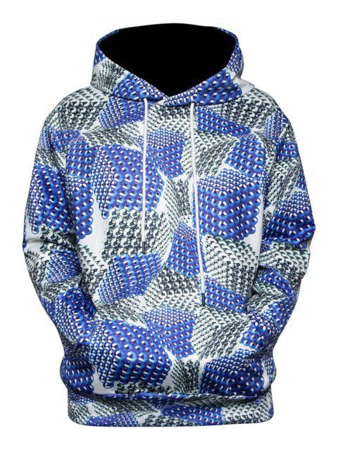 Magnetic Balls 3D Printed Pullover Hoodie - COLORMIX XL