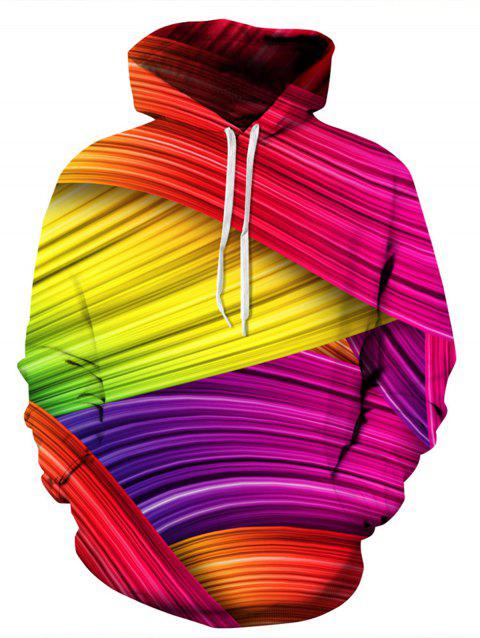 Rainbow Colorful 3D Print Pullover Hoodie - COLORMIX 2XL